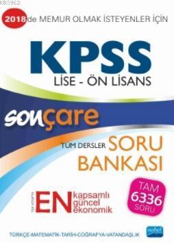 Sonçare KPSS Lise Ön Lisans Tüm Dersler Soru Bankası