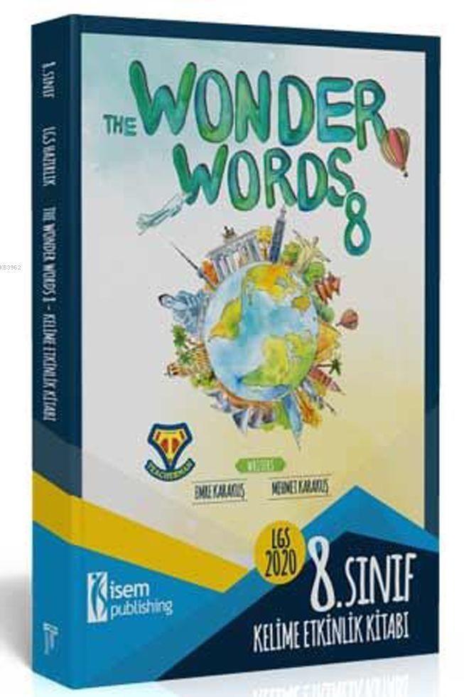 İsem 2020 8 Sınıf İngilizce Kelime Etkinlik Kitabı - The Wonder Words 8 İsem Yayıncılık