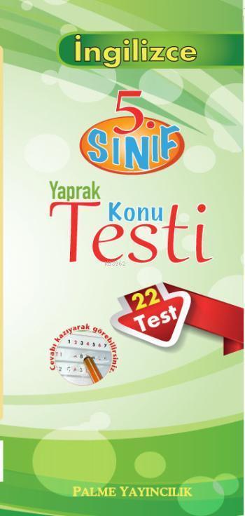 5. Sınıf İngilizce Yaprak Test (22 Test)