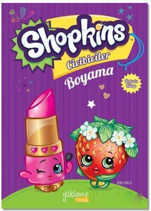 Shopkins Cicibiciler Boyama - Mor Kitap; Kokulu Kitap