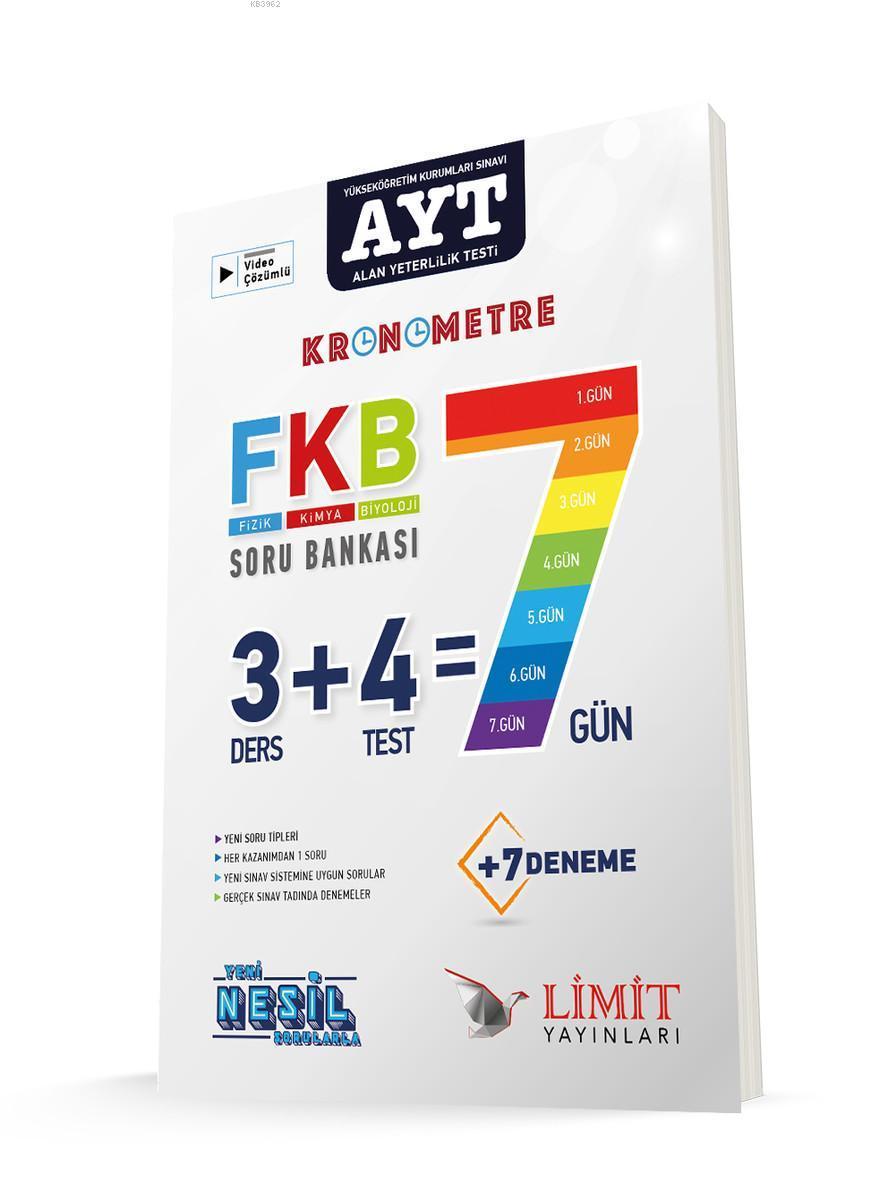 Limit AYT FKB Fizik Kimya Biyoloji 7 Gün Soru Bankası