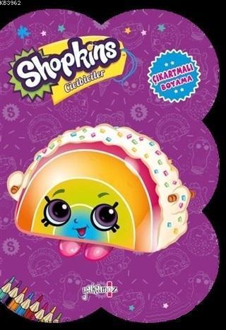 Shopkins Cicibiciler - Mor Çıkartmalı Boyama