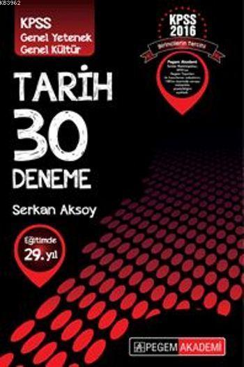 KPSS Genel Kültür Tarih 30 Deneme 2016
