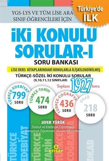 İki Konulu Sorular - I Soru Bankası; Türkçe-Sözel İki Konulu Sorular