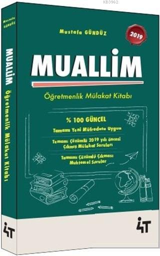 2019 Muallim Öğretmenlik Mülakat Kitabı